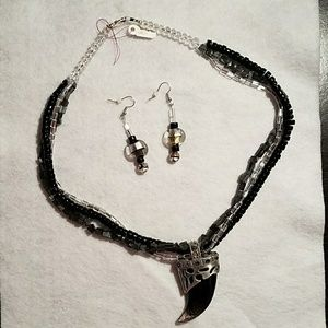Handcrafted Necklace & Earrings Set
